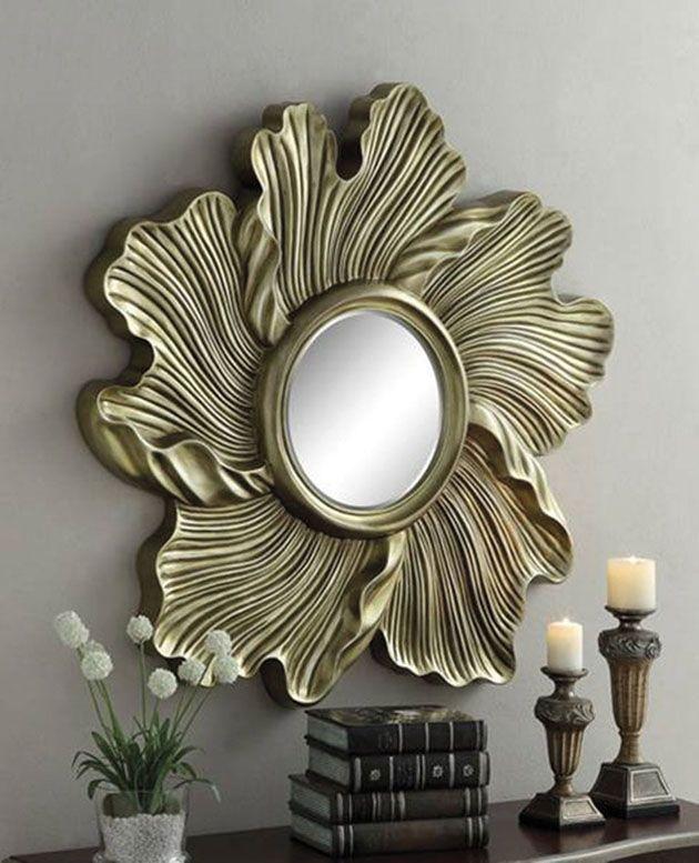Espejos De Diseno Original Flora Espejos De Pared En Resina Mirror Design Wall Mirror Decor Mirror Crafts