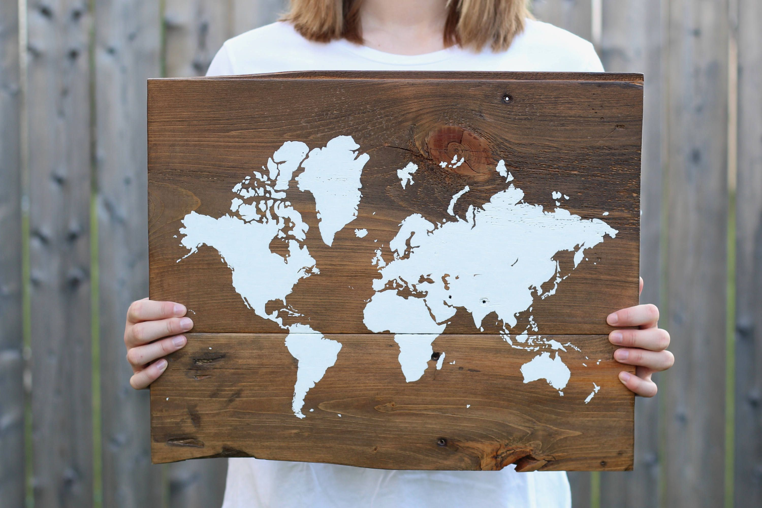 World map on wood rustic wall decor rustic world map map on world map on wood rustic wall decor rustic world map map on reclaimed gumiabroncs Choice Image