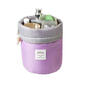 4e00e6039b Maras Dream Barrel Shaped Travel Cosmetic Bag Nylon High Capacity Drawstring  Elegant Drum Wash Bags Makeup Organizer Storage Bag