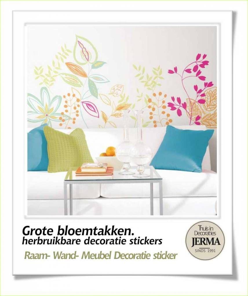 Decoratie stickers: slaapkamer grote muurstickers Bloemen stickers ...