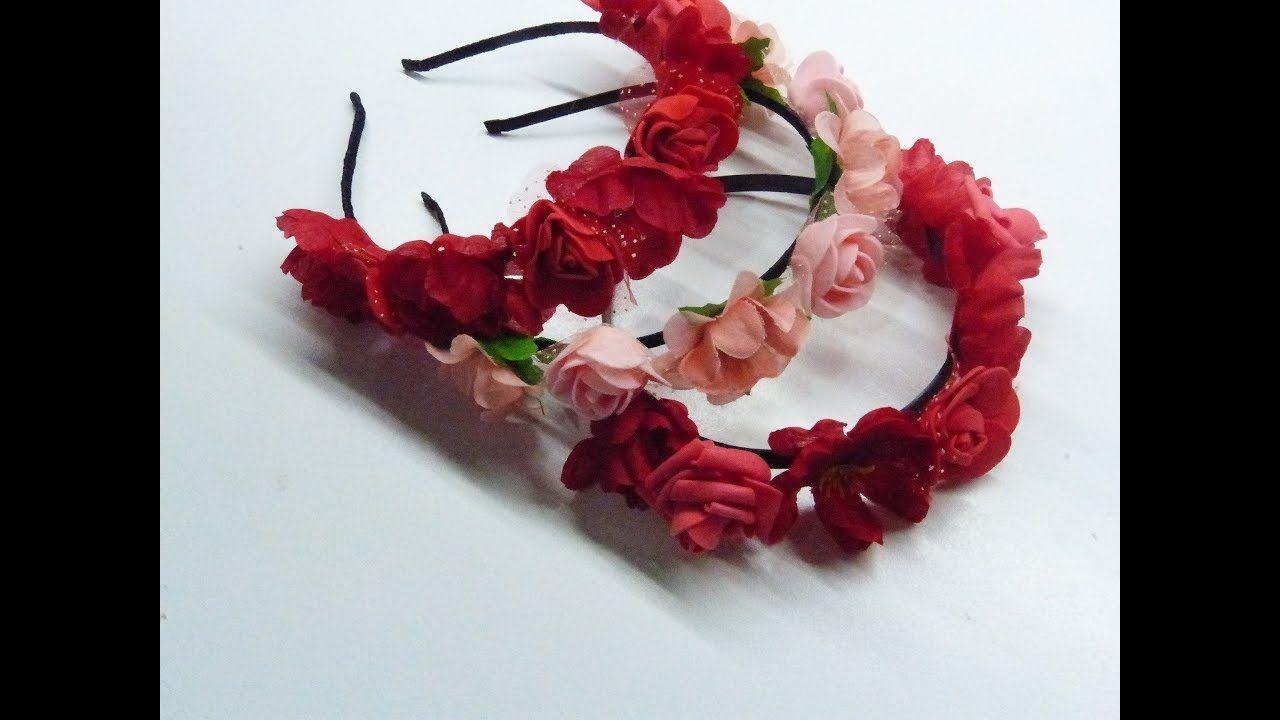 Como Se Hace Una Diadema De Flores
