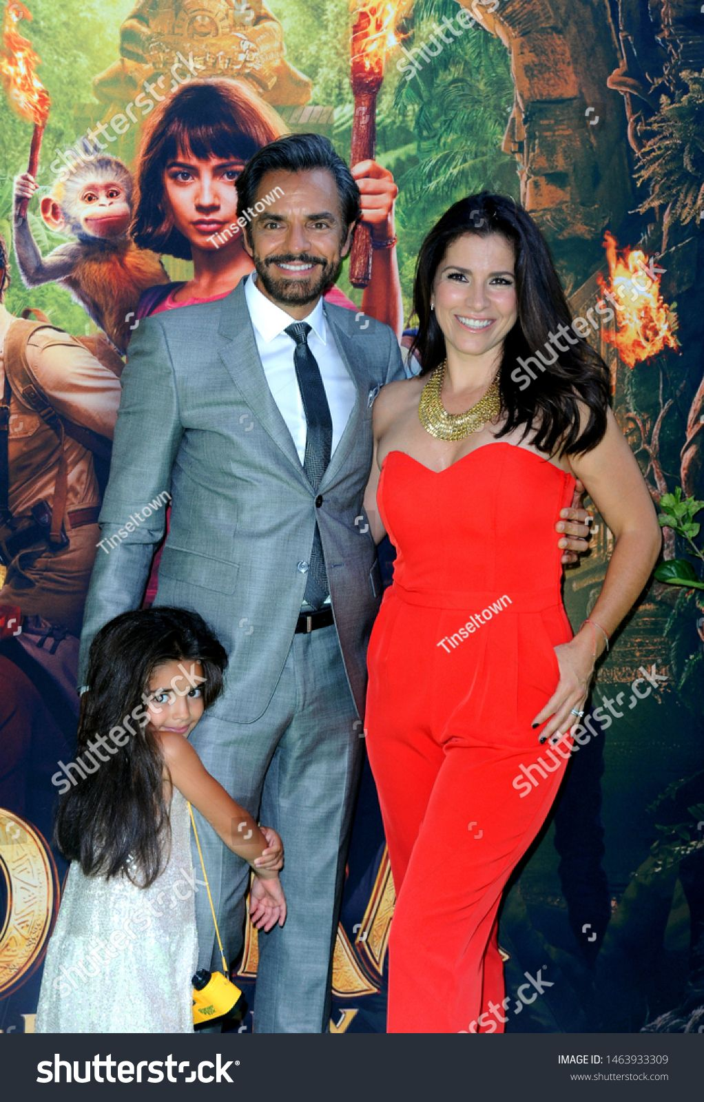 Alessandra Rosaldo Aitana Derbez And Eugenio Derbez At The Los Angeles Premiere Of Dora And The Lost City Of Gold Held In 2020 Photo Editing Stock Photos Alessandra