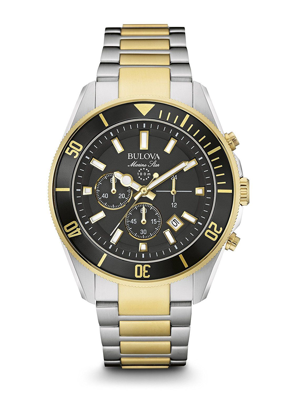 316c7e5ce Bulova 98B249 Marine Star Two Tone Stainless Steel Chronograph Analog Watch  >>> For more information, visit image link. (This is an Amazon Affiliate  link ...