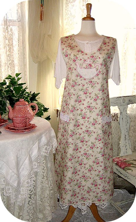 Old-Fashioned Tea Time 1920-Style Pinafore Apron 6 | Gifts | Pinterest