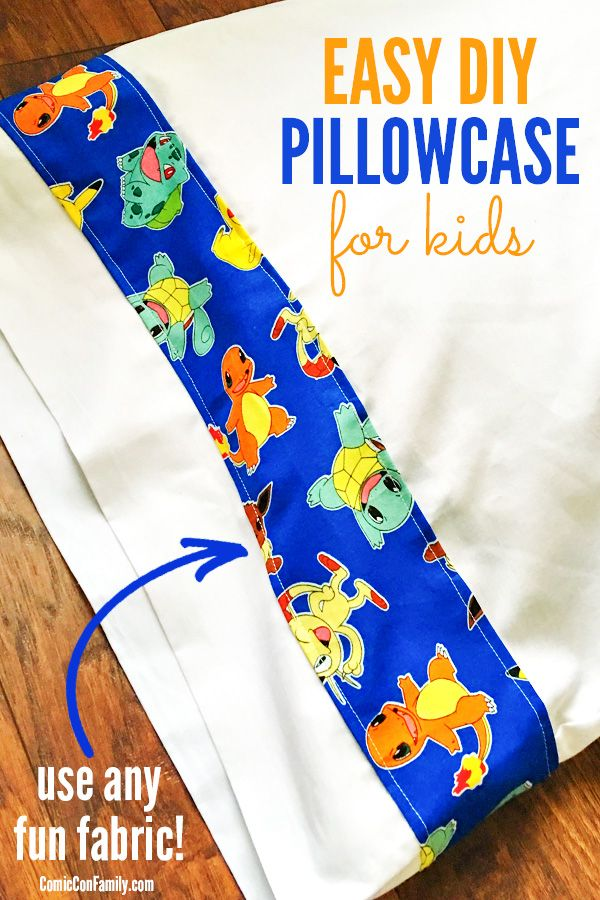 This Easy DIY Pillowcase for Kids craft tutorial needs just one pillowcase, fun…