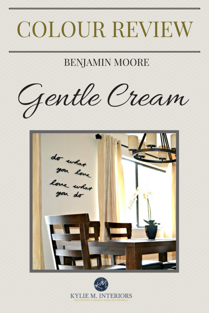 A Paint Colour Review Of Benjamin Moore Gentle Cream By Kylie M INteriors LRV