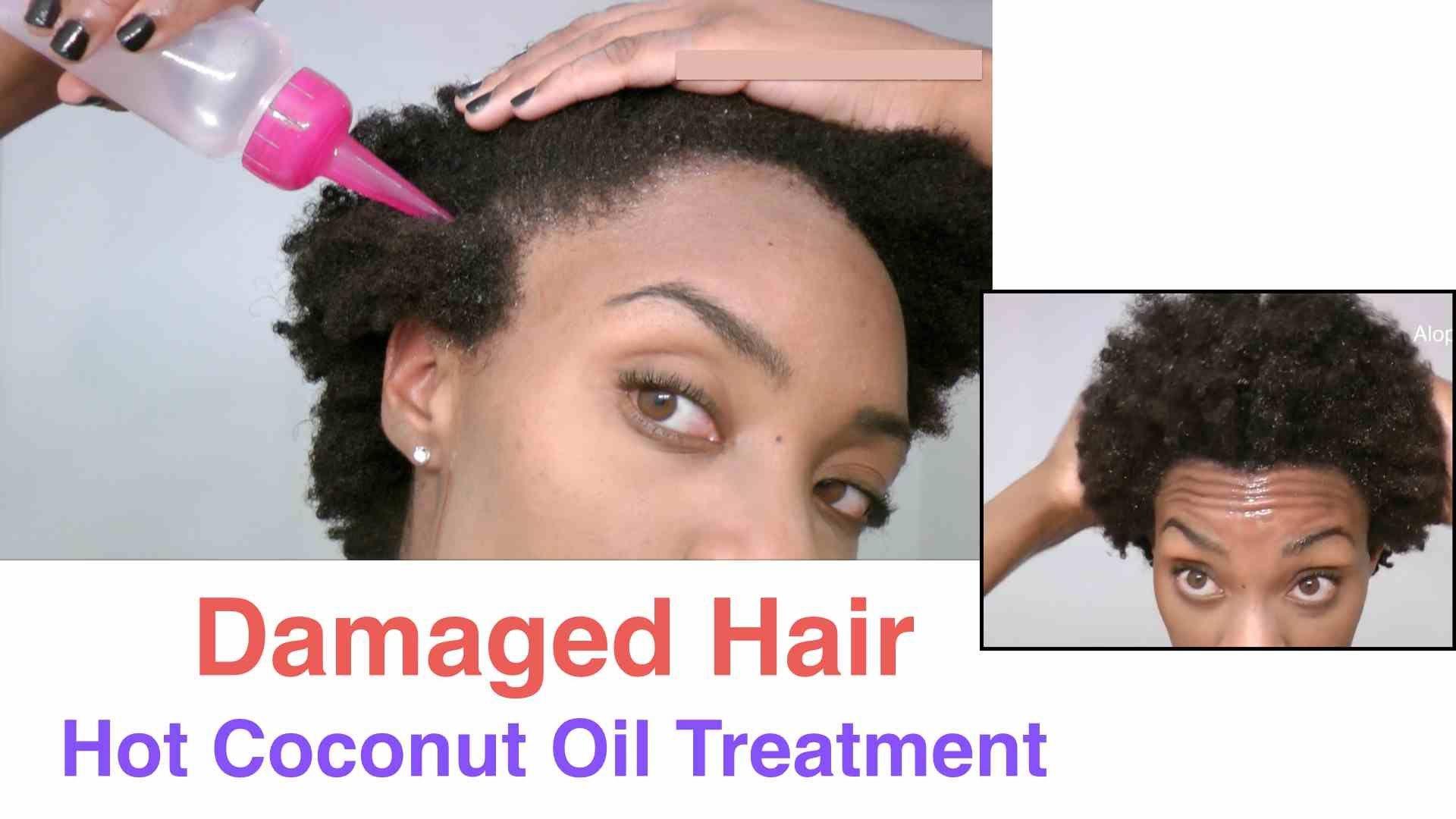 Diy Damaged Hair Hot Coconut Oil Treatment