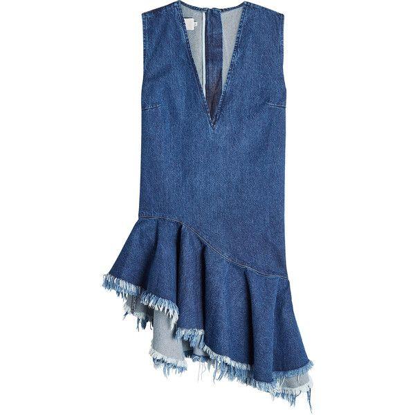 ef62b97c3fb Marques  Almeida Frayed Denim Shift Dress ( 469) ❤ liked on Polyvore  featuring dresses