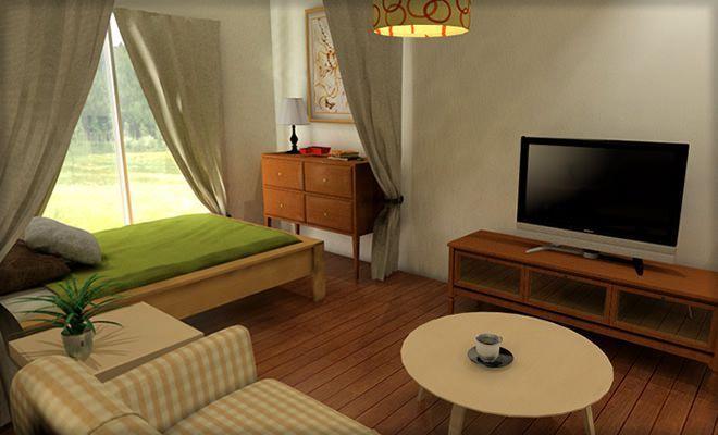 ワンルームを間仕切りするコツまとめ リビングと寝室の2部屋に分けるレイアウト Folk 小さい部屋のデザイン 小さな部屋のインテリア 部屋 デザイン