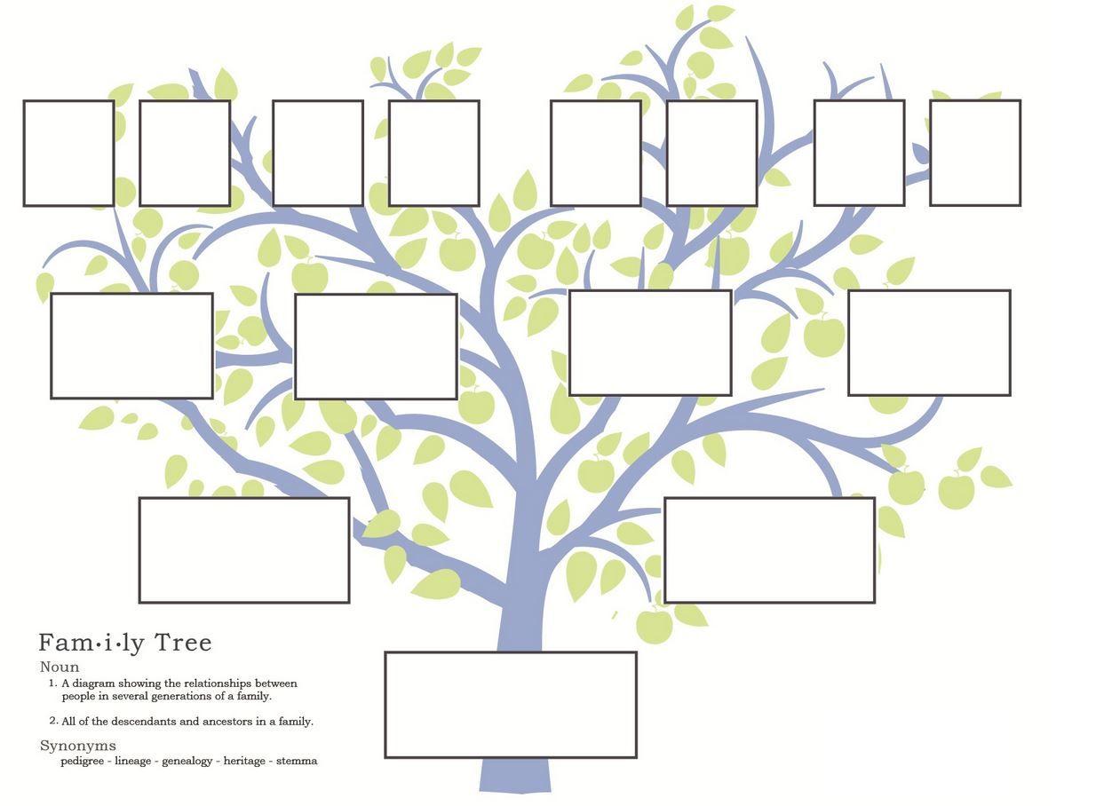 Free Family Tree Template To Print