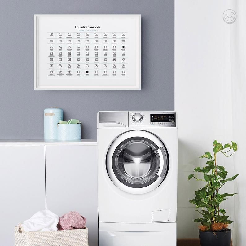 Laundry Room Complete Symbols Guide Printable Art Laundry Etsy In 2020 Laundry Wall Art Laundry Art Laundry Room Decor