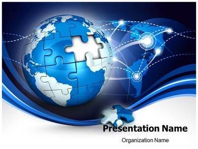 Download Our Professional-Looking #Ppt #Template On Globe Puzzle