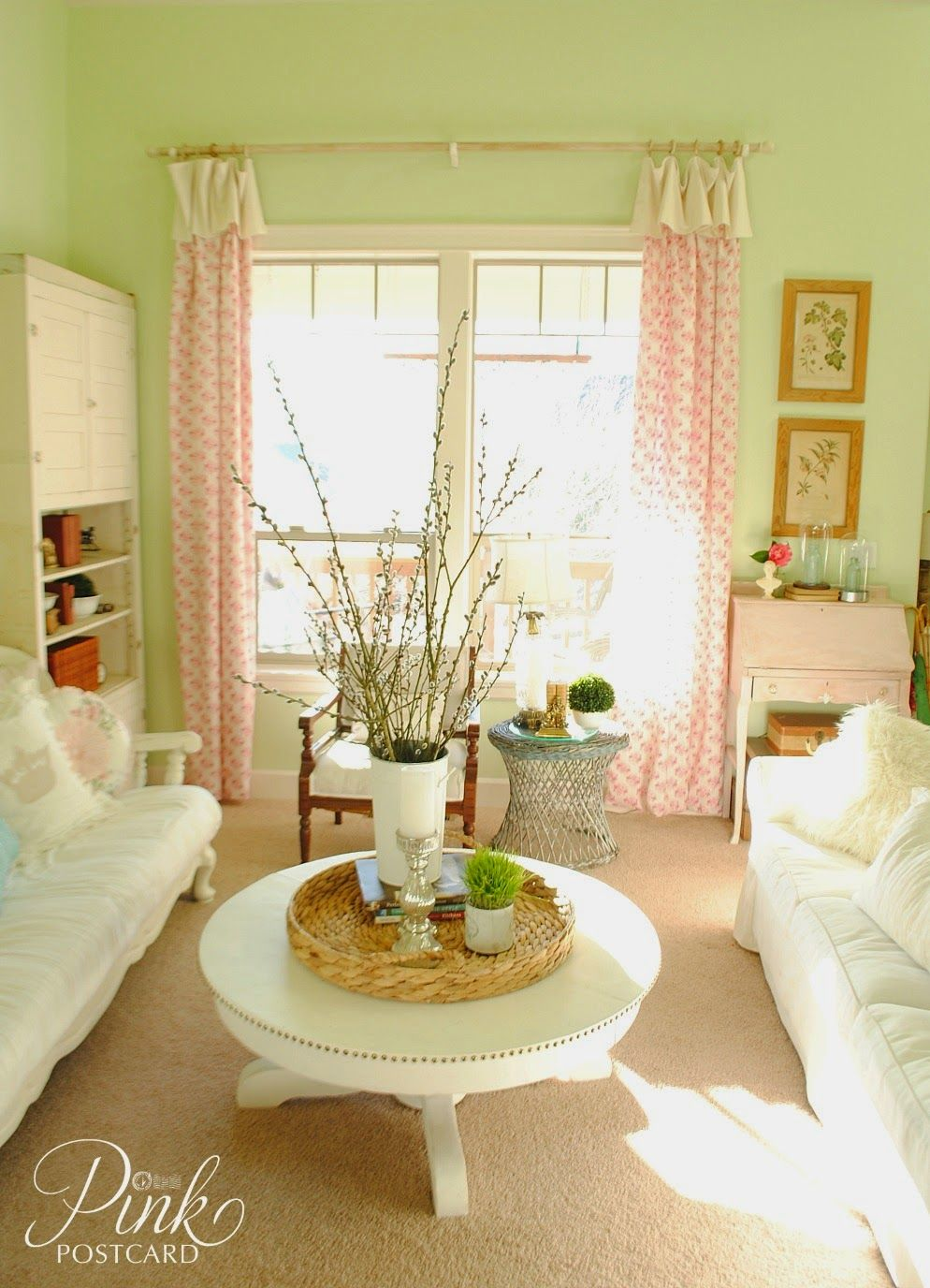 18++ Pink living room curtains info