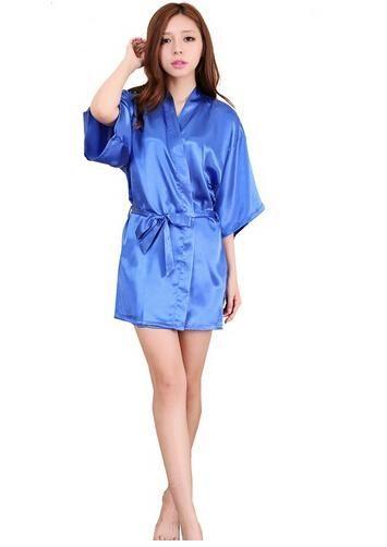 96c85f9a04 Plus Size S-XXL 2016 Rayon Longue Bathrobe Womens Kimono Satin Long Robe  Sexy Lingerie