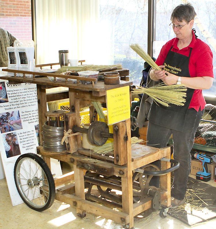 1890 Broom Making Machine | Flying 101 | Broom corn, Basket