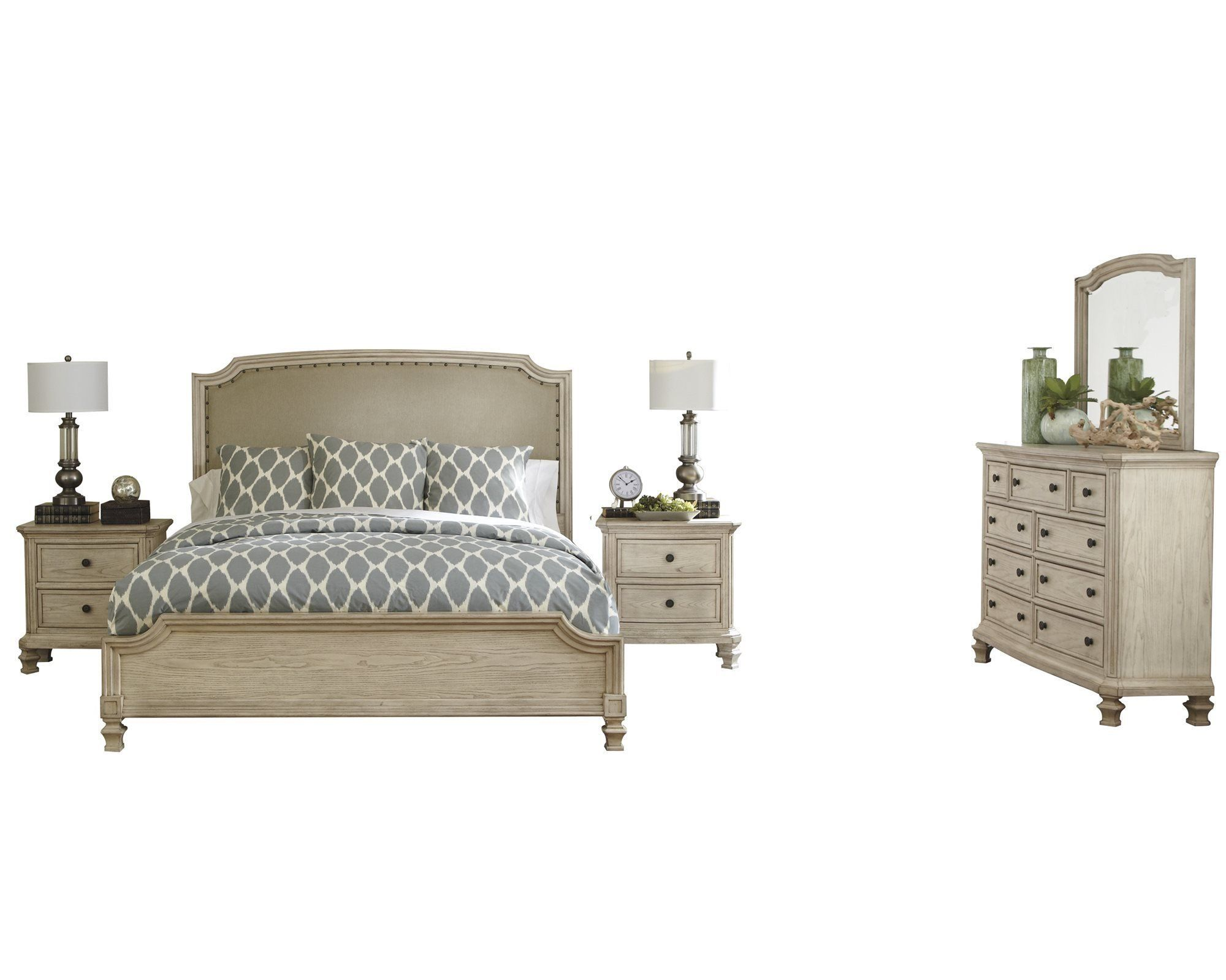 Ashley Demarlos 5pc Bedroom Set Queen Upholstered Bed Two Nightstand Dresser With Images Ashley Furniture Bedroom Ashley Bedroom Furniture Sets Bedroom Sets Furniture King