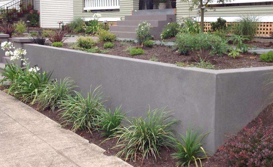 Concrete Retaining Wall Photos Eternal Rock Sidewalk Driveway Patio Retaining In 2020 Landscaping Retaining Walls Backyard Retaining Walls Concrete Retaining Walls