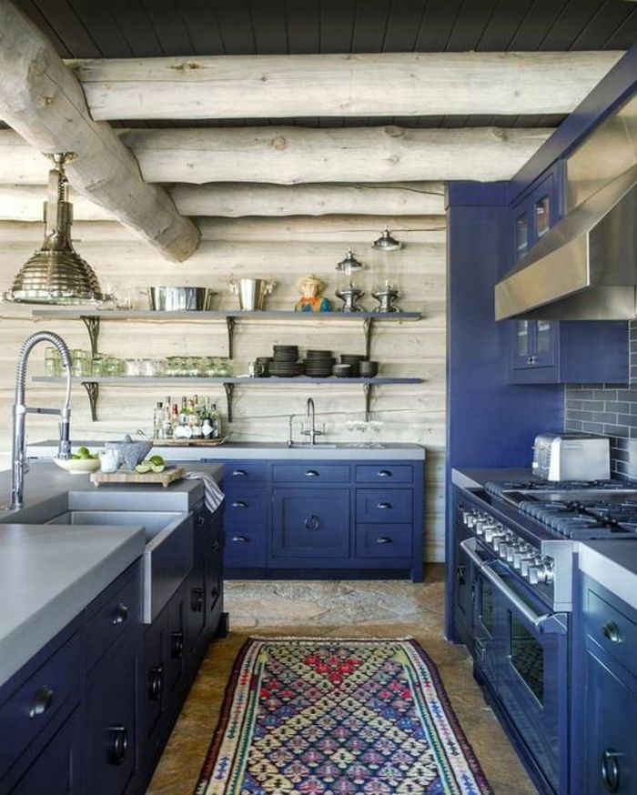 ▷ 1001+ Idées pour une cuisine bleu canard + les intérieurs qui