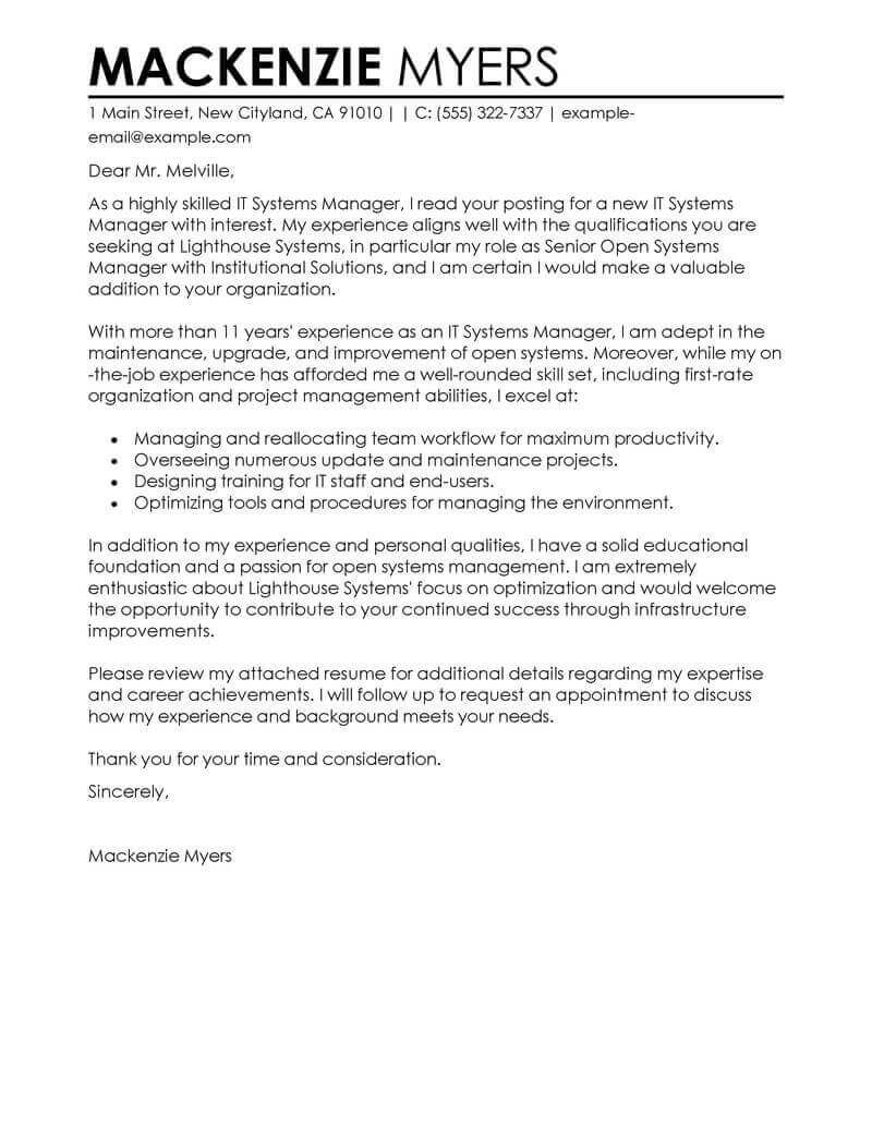 Cover Letter Template For Job CoverLetterTemplate