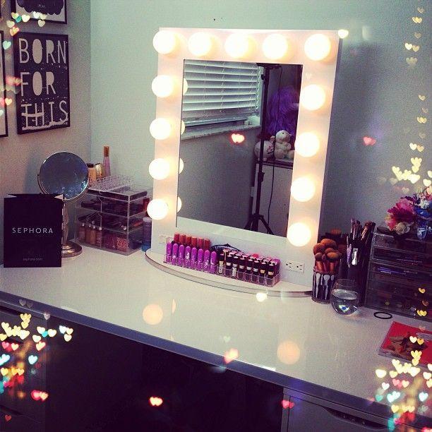 make up spiegel groot