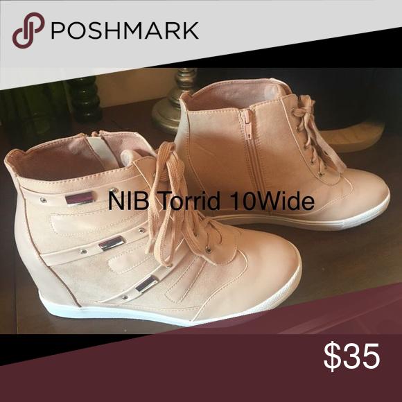 b074de5f86b Nib Torrid size 10wide wedge sneakers Nib Torrid size 10wide salmon pink  wedge heel sneakers.