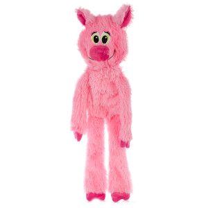 Grreat Choice Pig Dog Toy Stuffing Free Crinkle Squeaker