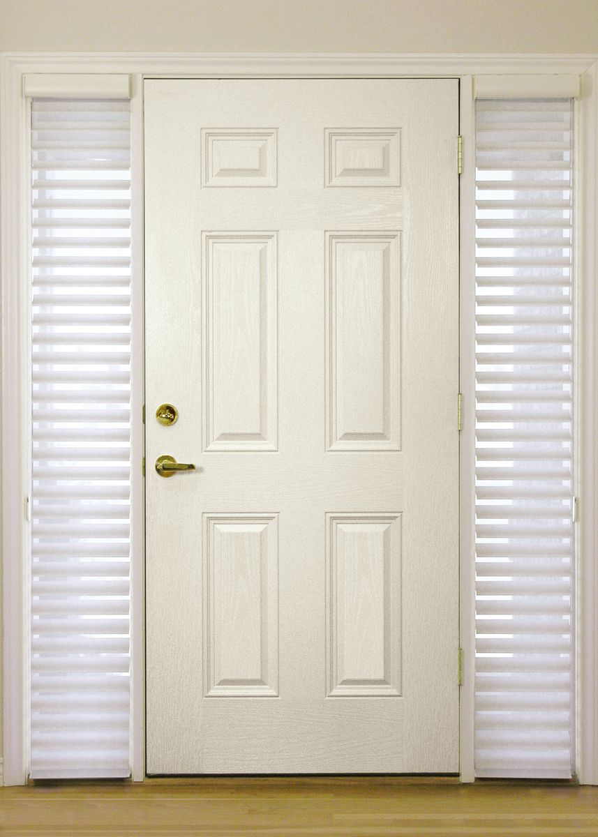Image Of Sidelight Window Treatments On The Main Entry Doors
