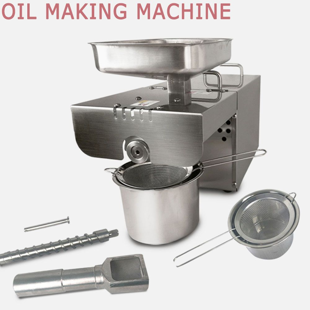 Hot Automatic Small Oil Press Machine Stainless Steel Cold Hot 110V or 220V