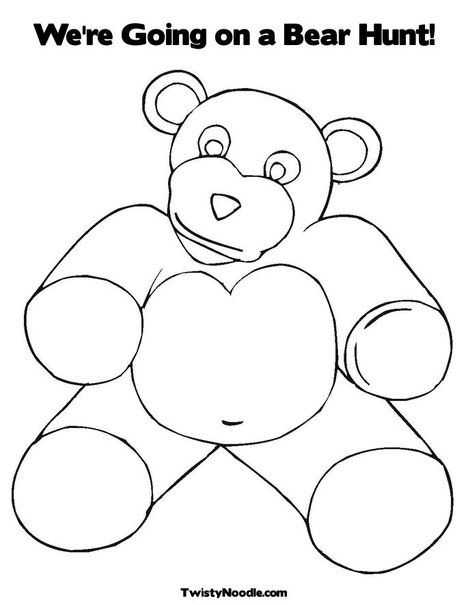 We Re Going On A Bear Hunt Coloring Page From Twistynoodle Com