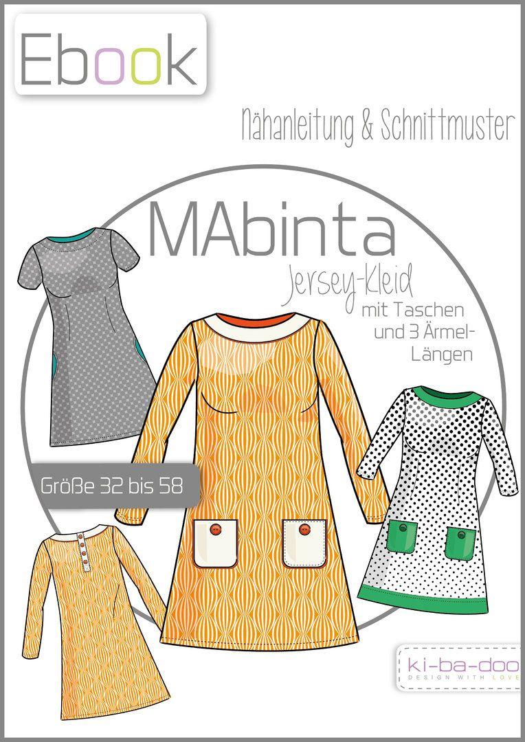 Ebook Damen A-Linien Kleid MAbinta - Schnittmuster und Anleitung als ...