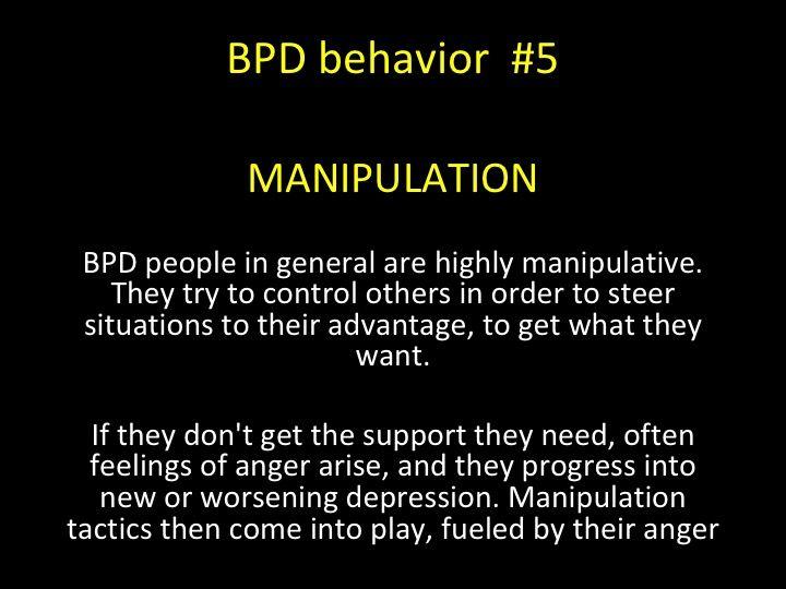 Depression and manipulative behavior