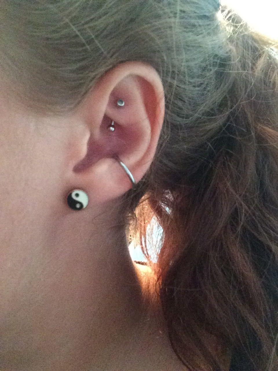 Bump under nose piercing  rook u conch piercings  peircings  Pinterest  Conch piercings