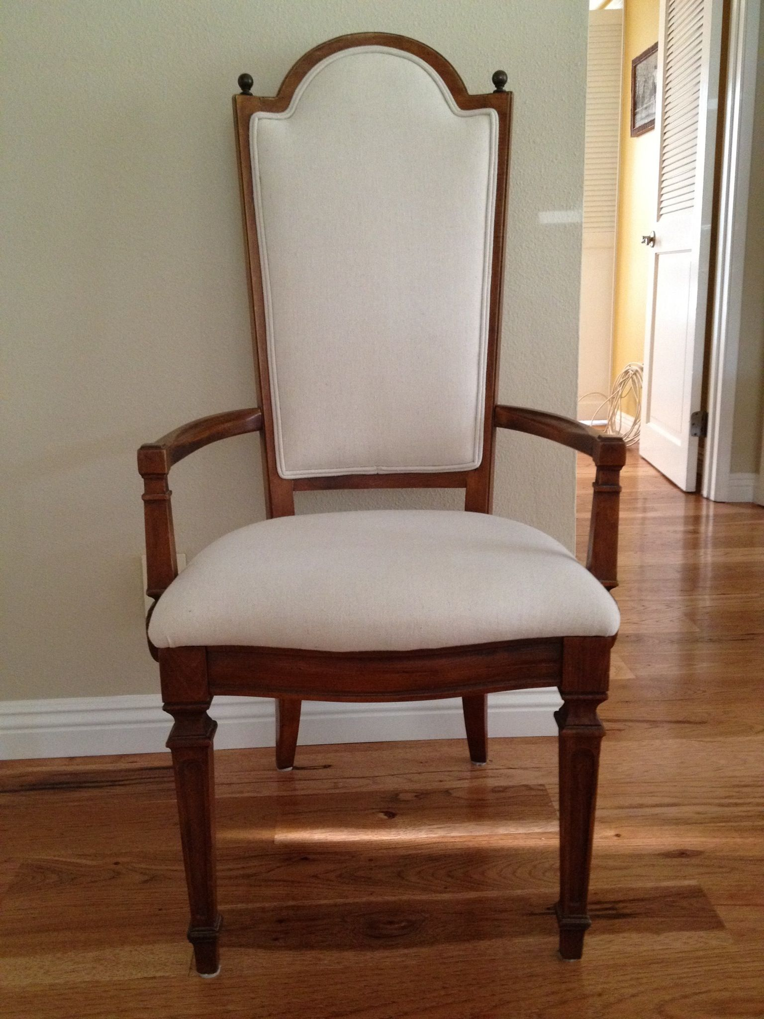 How To Reupholster A Dining Room Chair Seat And Back Alluring Thomasville Dining Room Chair That Had Torn Cane Back And Worn Out Design Ideas