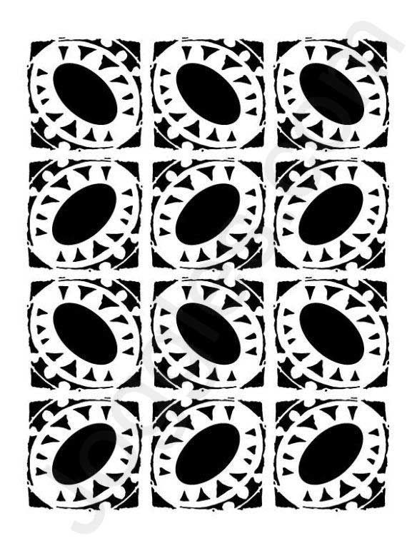 Stencil 6 x 6 inches Spiral Dots by Clear Scraps
