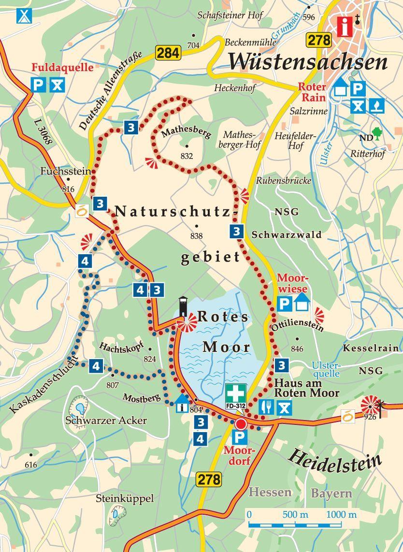 Rhon Rundweg 3 Karte Wasserkuppe Touren Reisen