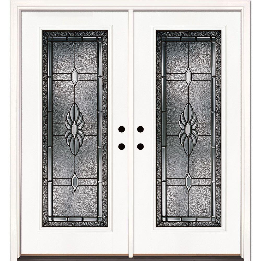 Feather River Doors 74 In X 81 625 In Sapphire Patina Full Lite Unfinished Smooth Right Hand Inswing Fiberglass Double Prehung Front Door 6h3191 400 With Images Glass Doors Interior Front Door Fiberglass