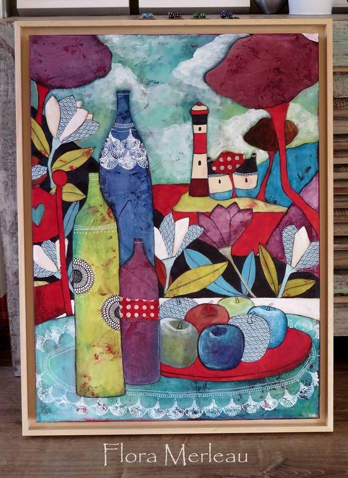 Flora merleau illustrations peinture naive et contemporaine pinterest contemporain et - Tuto peinture abstraite contemporaine ...