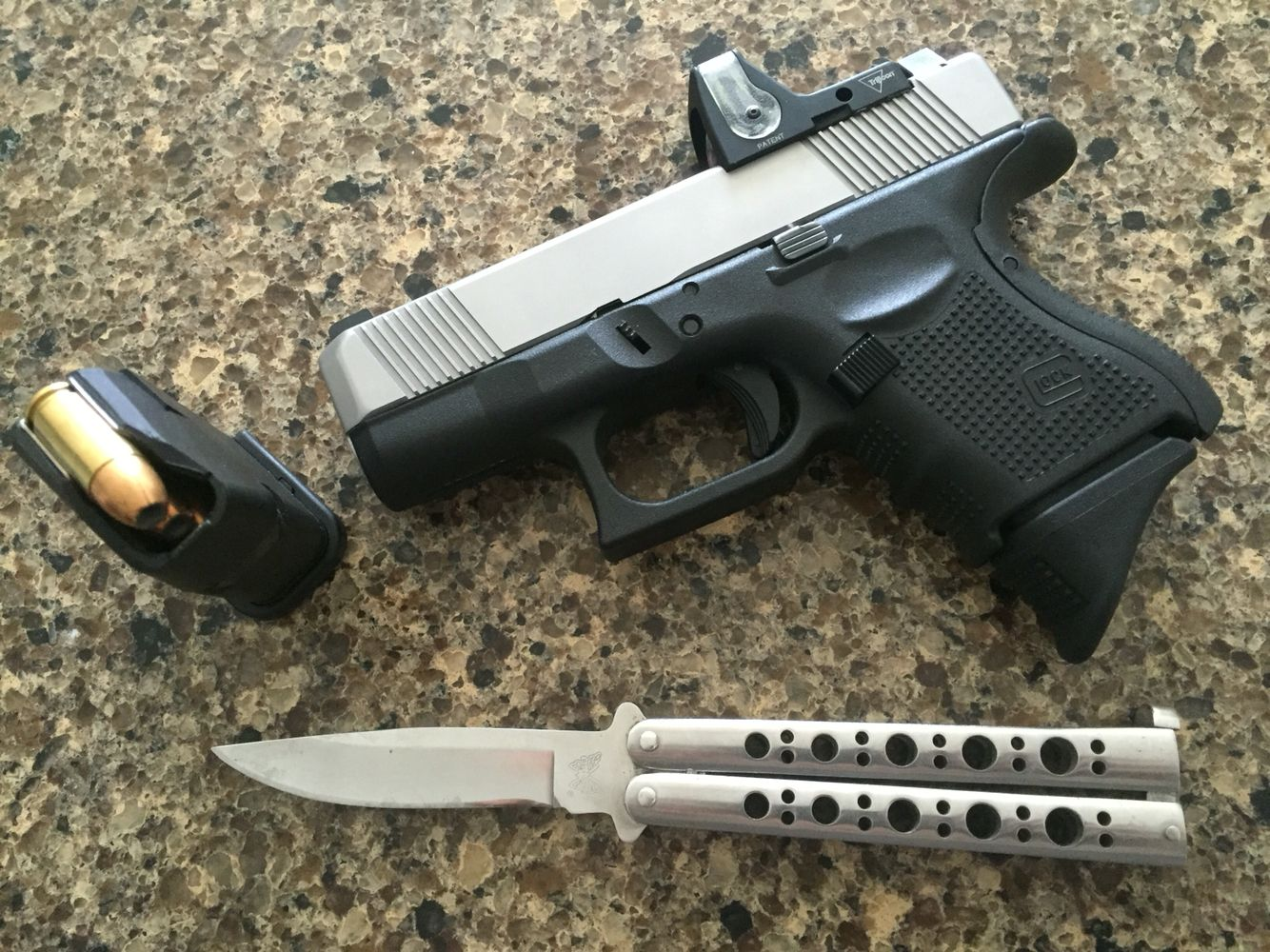 Glock 26 Gen 4 With Lone Wolf Stainless Steel Slide Tall Ameriglow