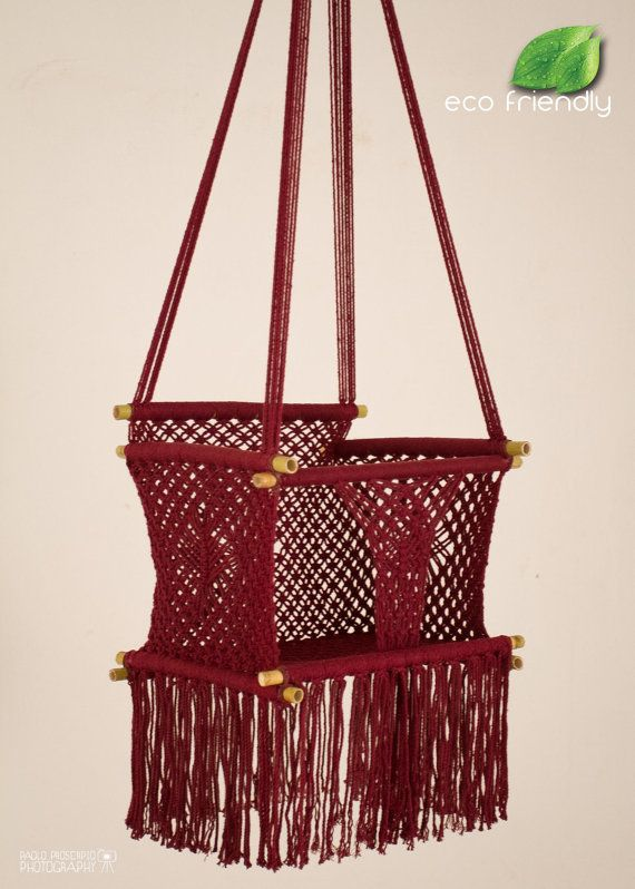 ECO Friendly Macrame Baby Swing Chair (for Infant to Child
