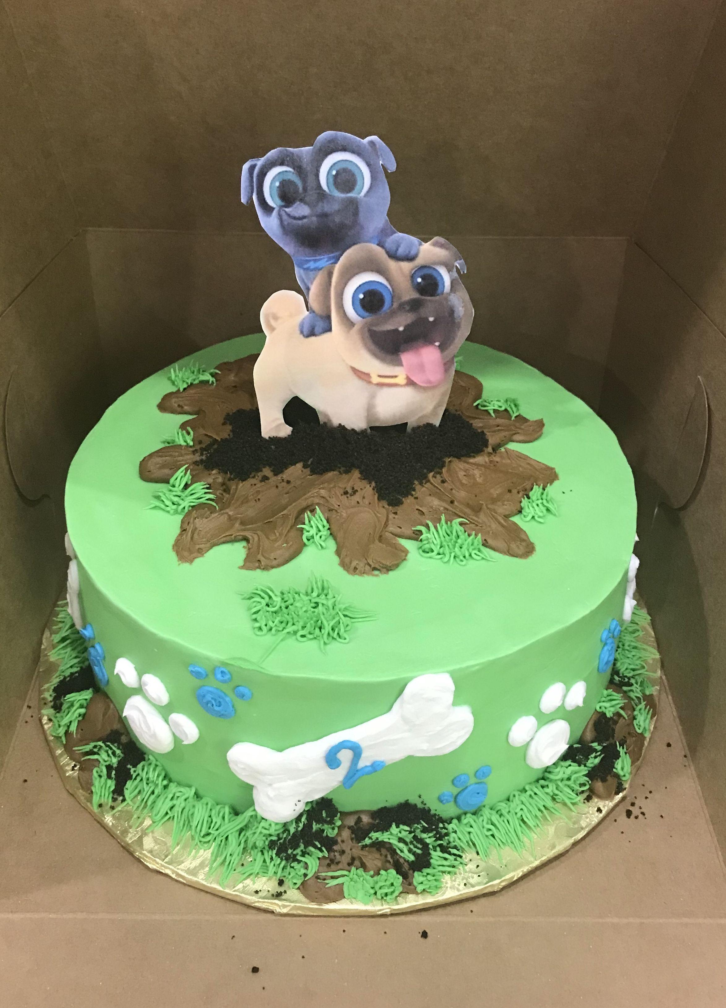 Puppy dog pals birthday birthday cake