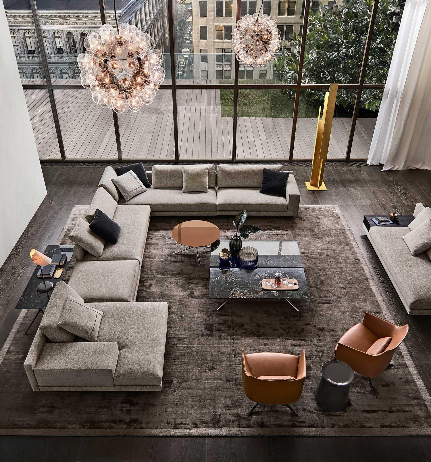 Poliform Mondrian Sofajeanmarie Massaud  Mondrian Living Brilliant Contemporary Modern Living Room Inspiration