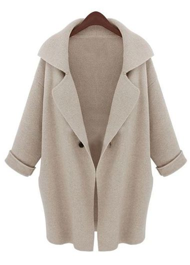 wholesale Charming Long Sleeve Turndown Collar Woman Sweaters Beige
