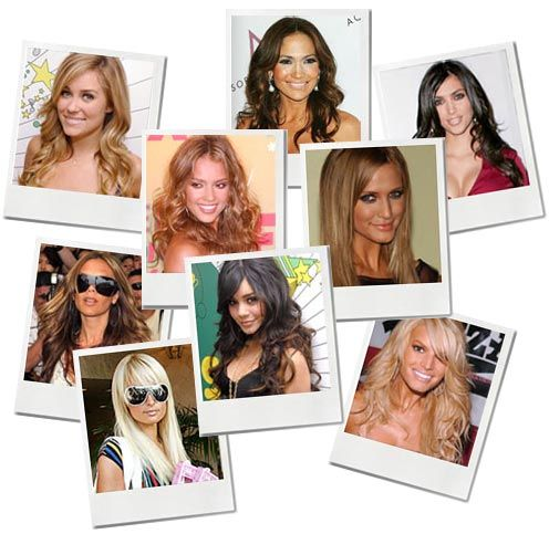 Collage of female celebrities
