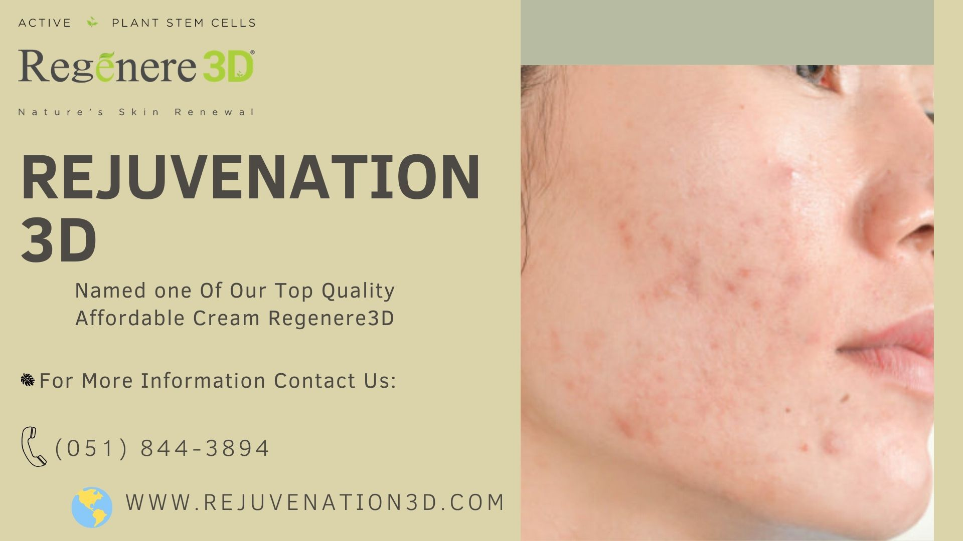 You Can See positive Results From The First Day You Use Regenere3D is the for if for and and now 051 8443894