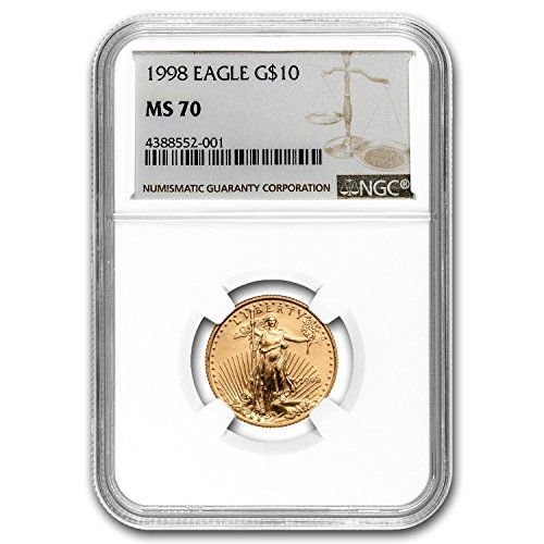 1998 1 4 Oz Gold American Eagle Ms 70 Ngc Gold Ms 70 Ngc Check Out The Image By Visiting The Link Gold American Eagle Ngc Eagle