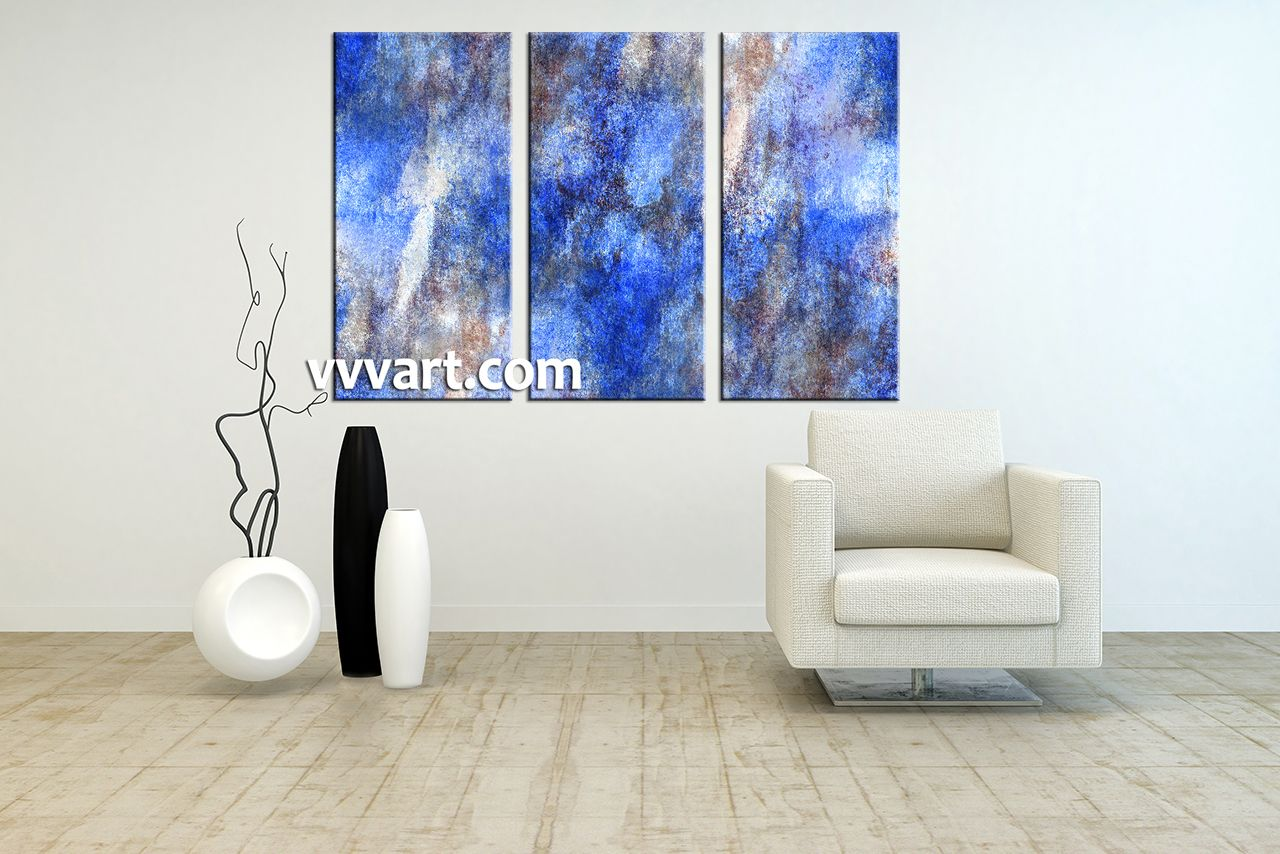 Living Room Art, 3 piece canvas wall art, abstract group canvas ...