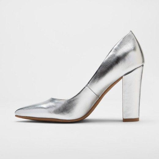 4d718881217 Women s dv Brie Block Heel Pumps - Silver 9.5   Target