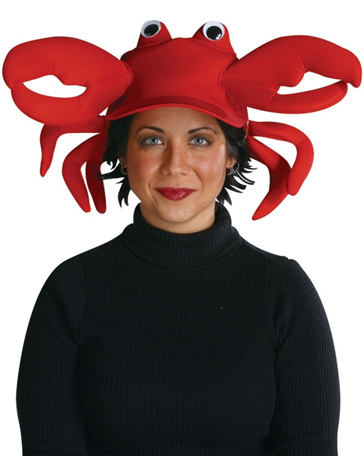 Crab Baseball Cap Product Description This Crab Costume Cap is a  sensational way to enhance your look at the next Beach Party! nothing  creepy 1d444fc551d