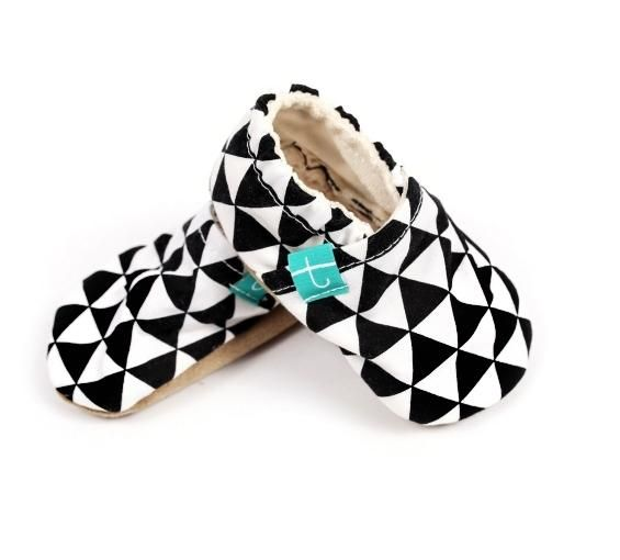 Photo of Titot-Organic Slippers Black Triangles