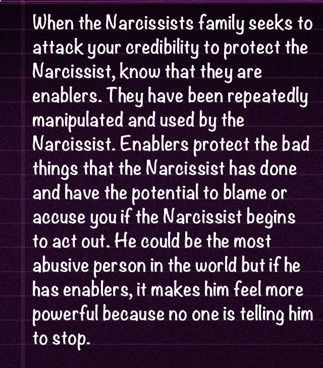 The Narcissist Has Enablers